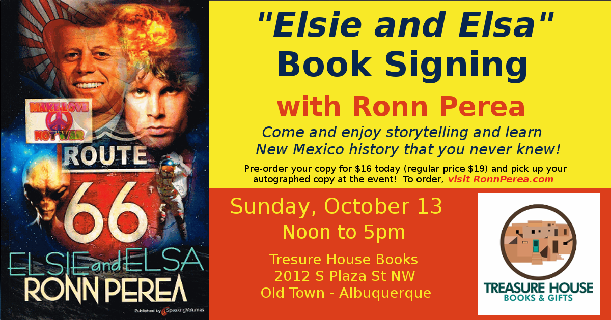 Historical Fiction Elsie and Elsa by Southwest Author Ronn Perea